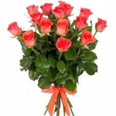Роза оранжевая 15