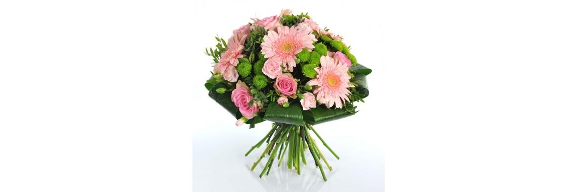 Букет роза с герберой и хризантемой