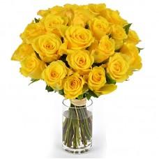 Роза желтая 25