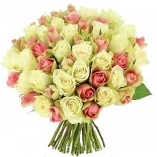 Роза белая и розовая 35